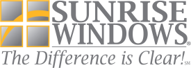 Sunrise Vinyl Windows has approximately 27% more glass than their competitors